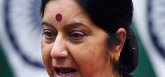 कांग्रेस ओछी राजनीति कर रही है- सुषमा